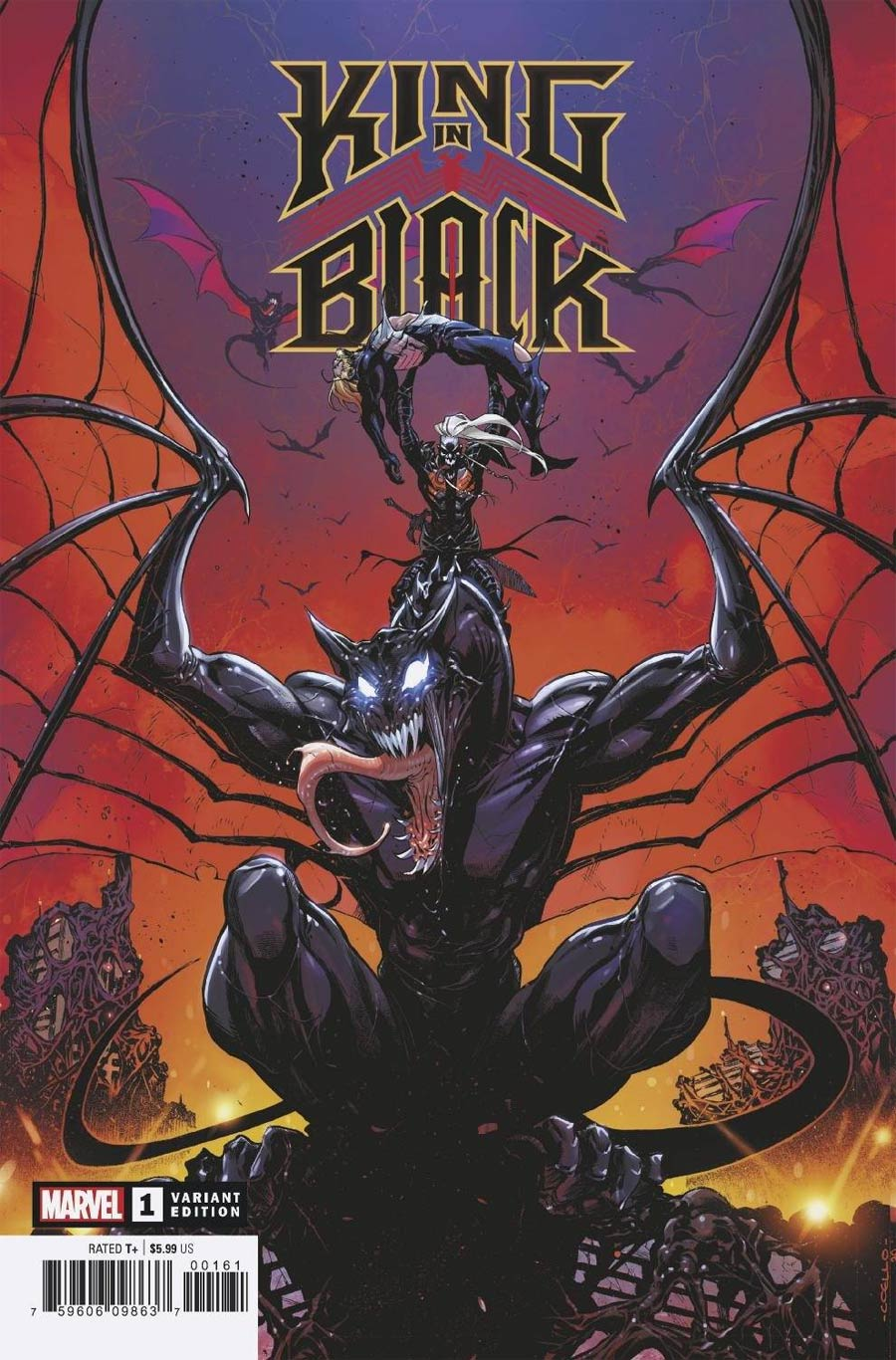 King In Black #1 Cover J Incentive Iban Coello Dragon Variant Cover