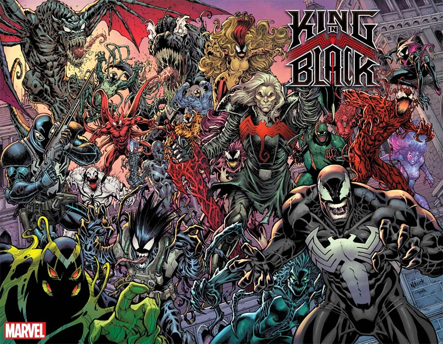 King In Black #1 Cover L Incentive Todd Nauck Every Symbiote Ever Wraparound Variant Cover