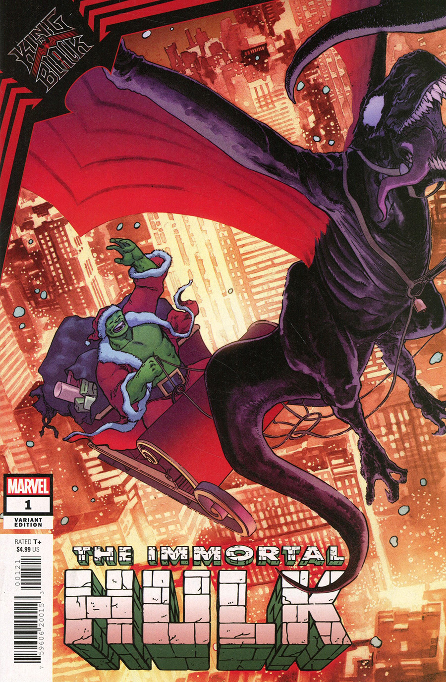 King In Black Immortal Hulk One Shot Cover C Incentive Aaron Kuder Santa Claus Variant Cover