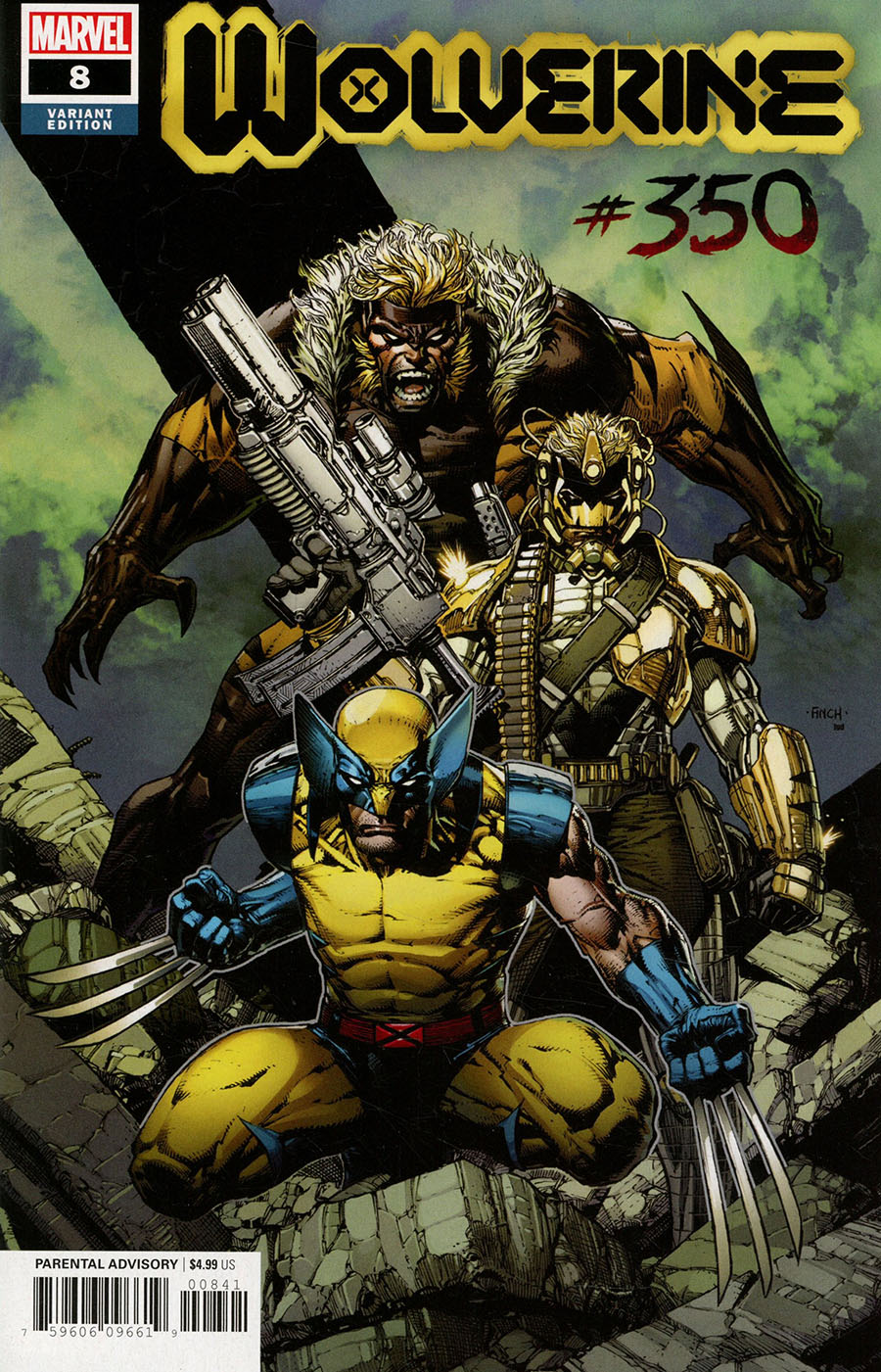 Wolverine Vol 7 #8 Cover D Incentive David Finch Variant Cover (#350)(X Of Swords Tie-In)