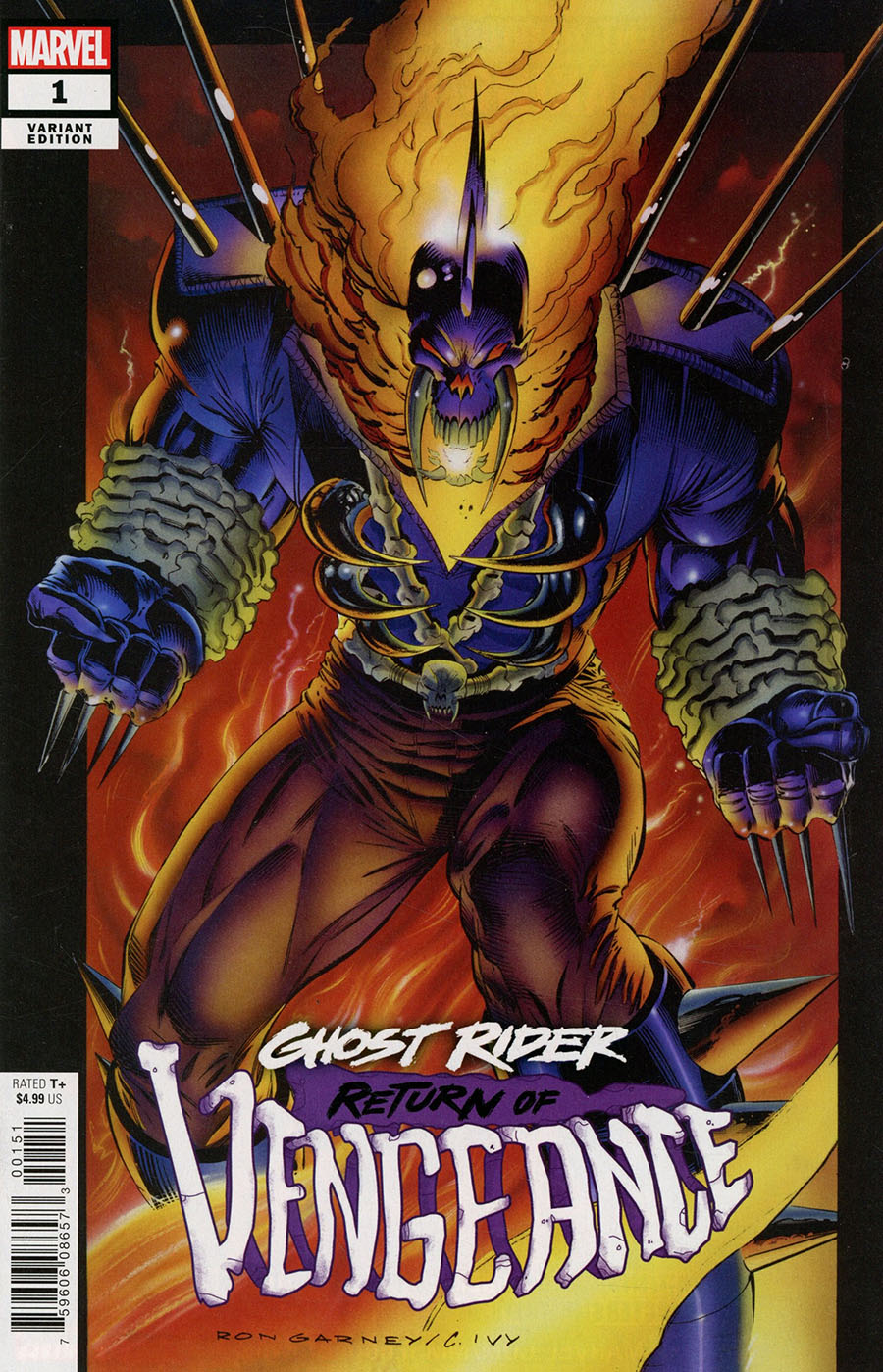 Ghost Rider Return Of Vengeance One Shot Cover E Incentive Ron Garney Hidden Gem Variant Cover
