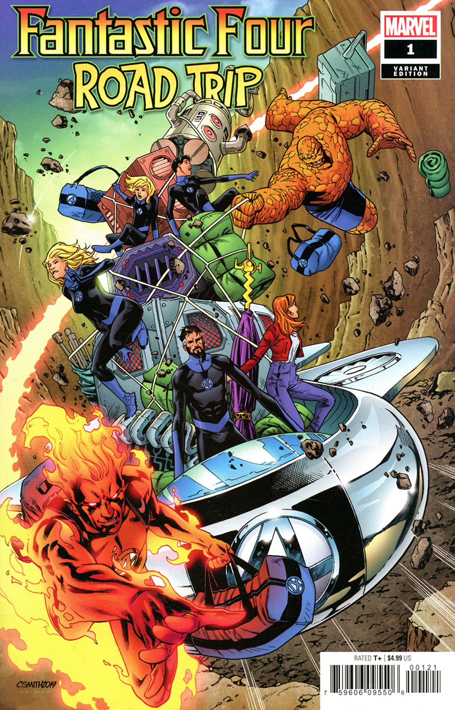 Fantastic Four Road Trip One Shot Cover D Incentive Cory Smith Variant Cover