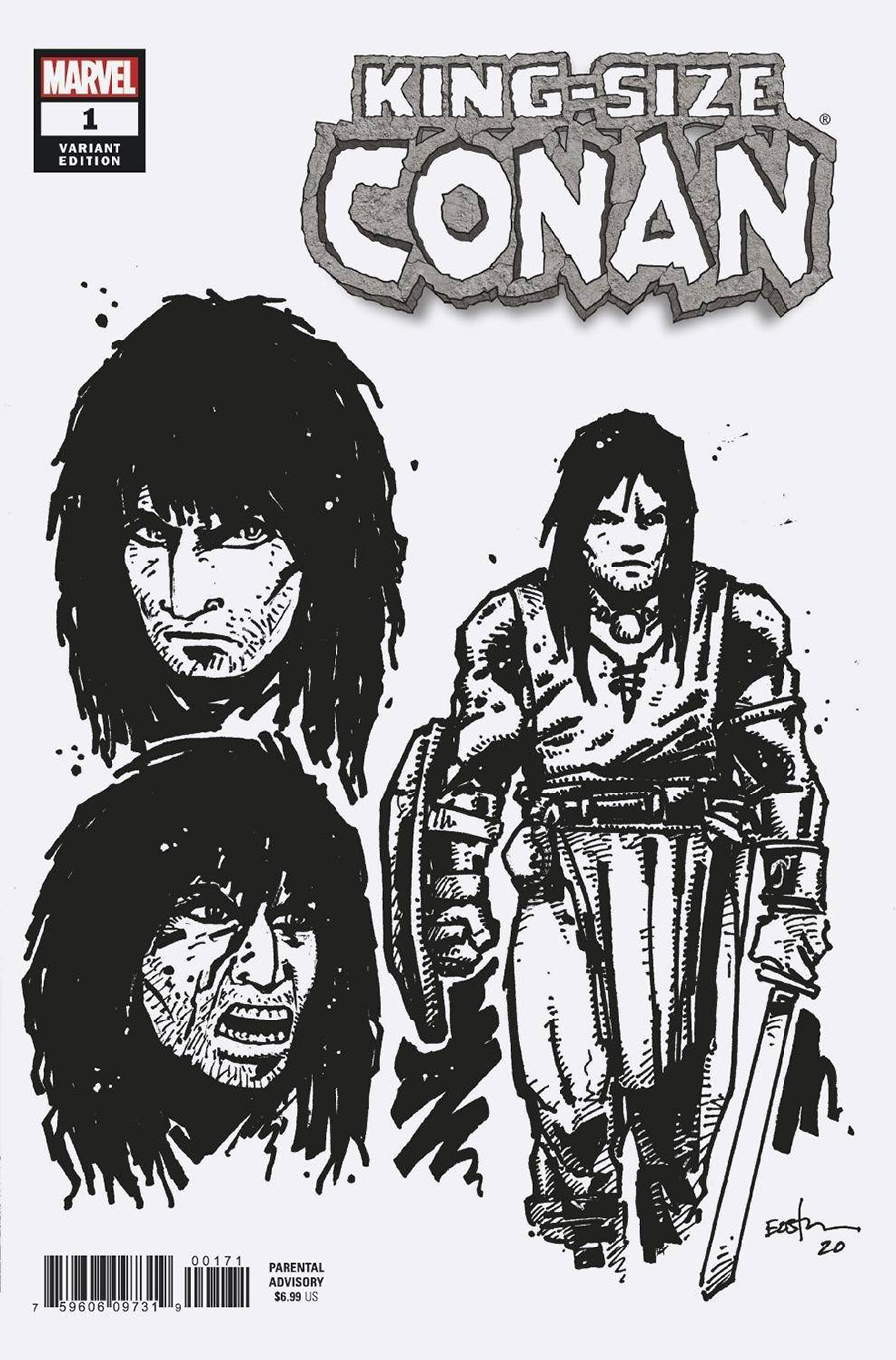 King-Size Conan One Shot Cover D Incentive Kevin Eastman Design Variant Cover