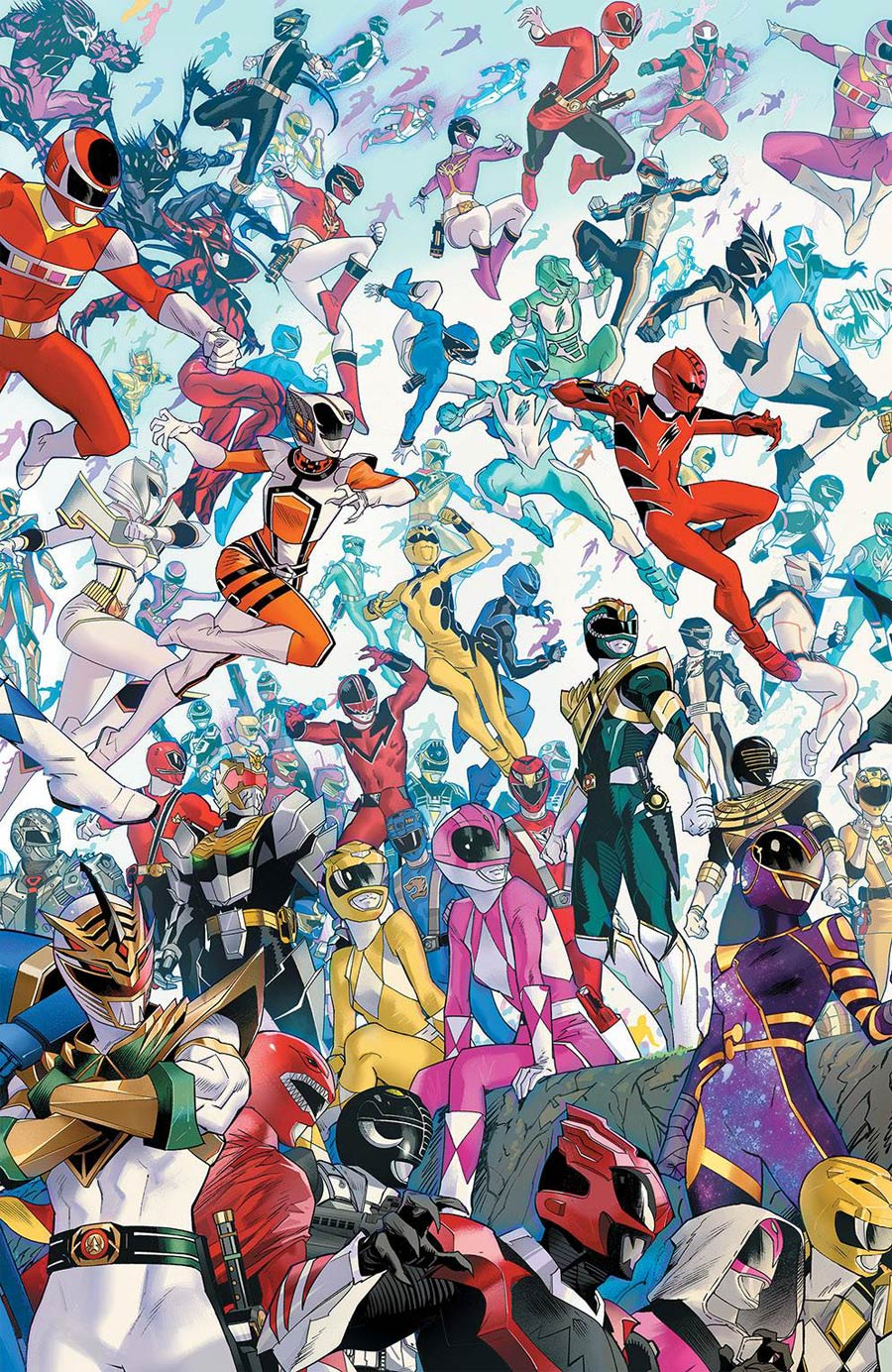 Mighty Morphin #2 Cover D Incentive Dan Mora Every Ranger Ever Variant Cover