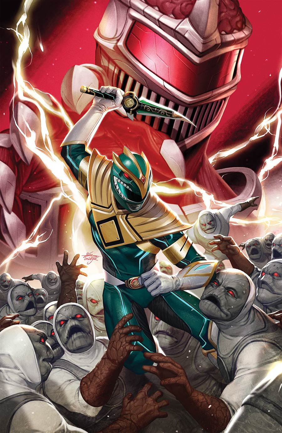 Mighty Morphin #2 Cover F Incentive Inhyuk Lee Virgin Cover