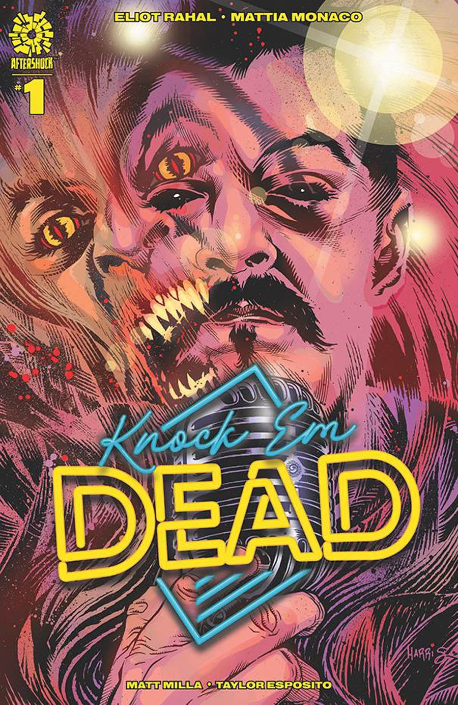 Knock Em Dead #1 Cover B Incentive Tony Harris Variant Cover