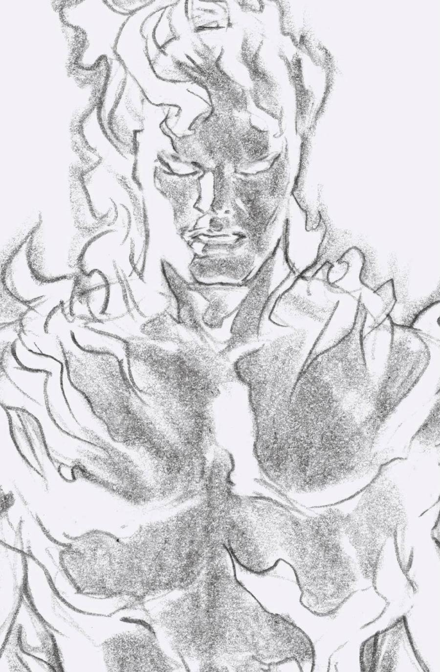 Fantastic Four Vol 6 #24 Cover G Incentive Alex Ross Timeless Human Torch Virgin Sketch Cover
