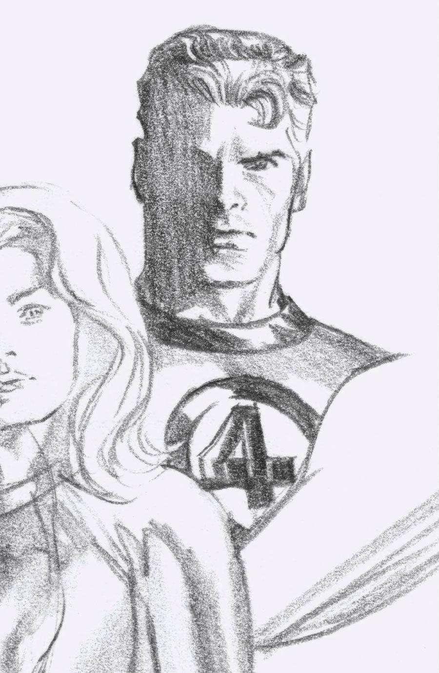 Fantastic Four Vol 6 #24 Cover I Incentive Alex Ross Timeless Mister Fantastic Virgin Sketch Cover