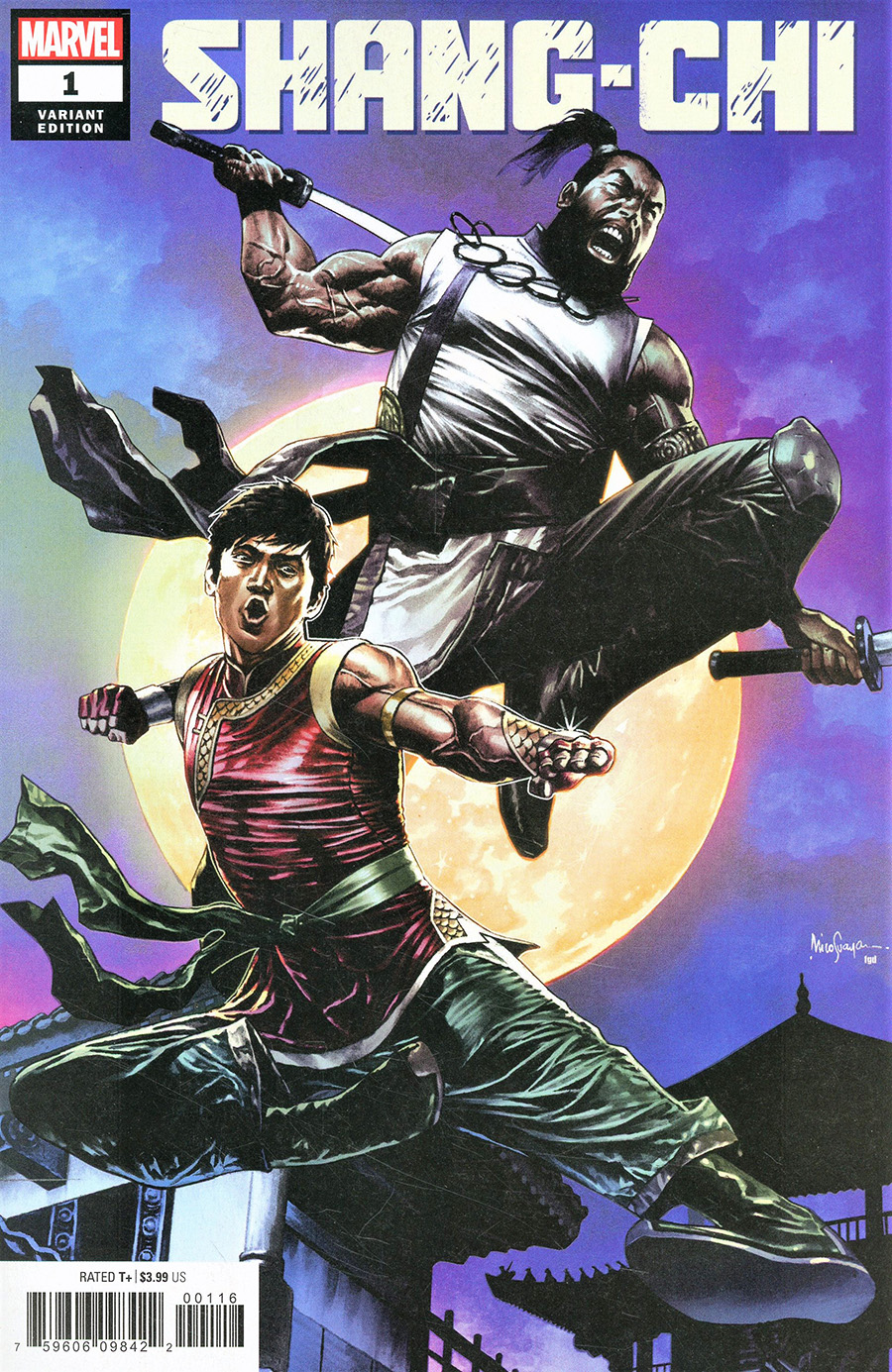 Shang-Chi #1 Cover I Incentive Mico Suayan Variant Cover