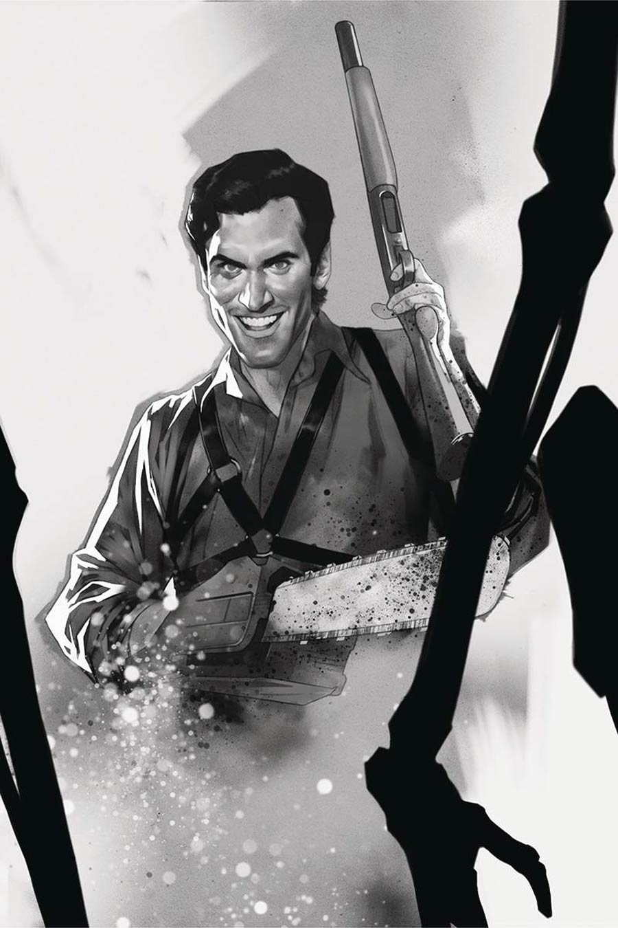 Death To The Army Of Darkness #5 Cover G Incentive Ben Oliver Black & White Virgin Cover