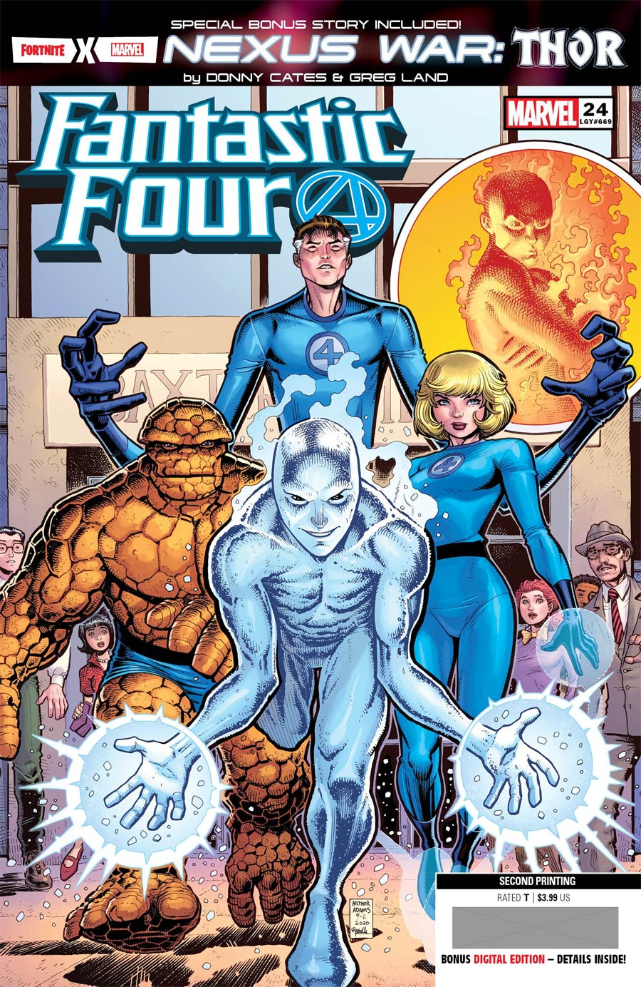 Fantastic Four Vol 6 #24 Cover K 2nd Ptg Arthur Adams Variant Cover