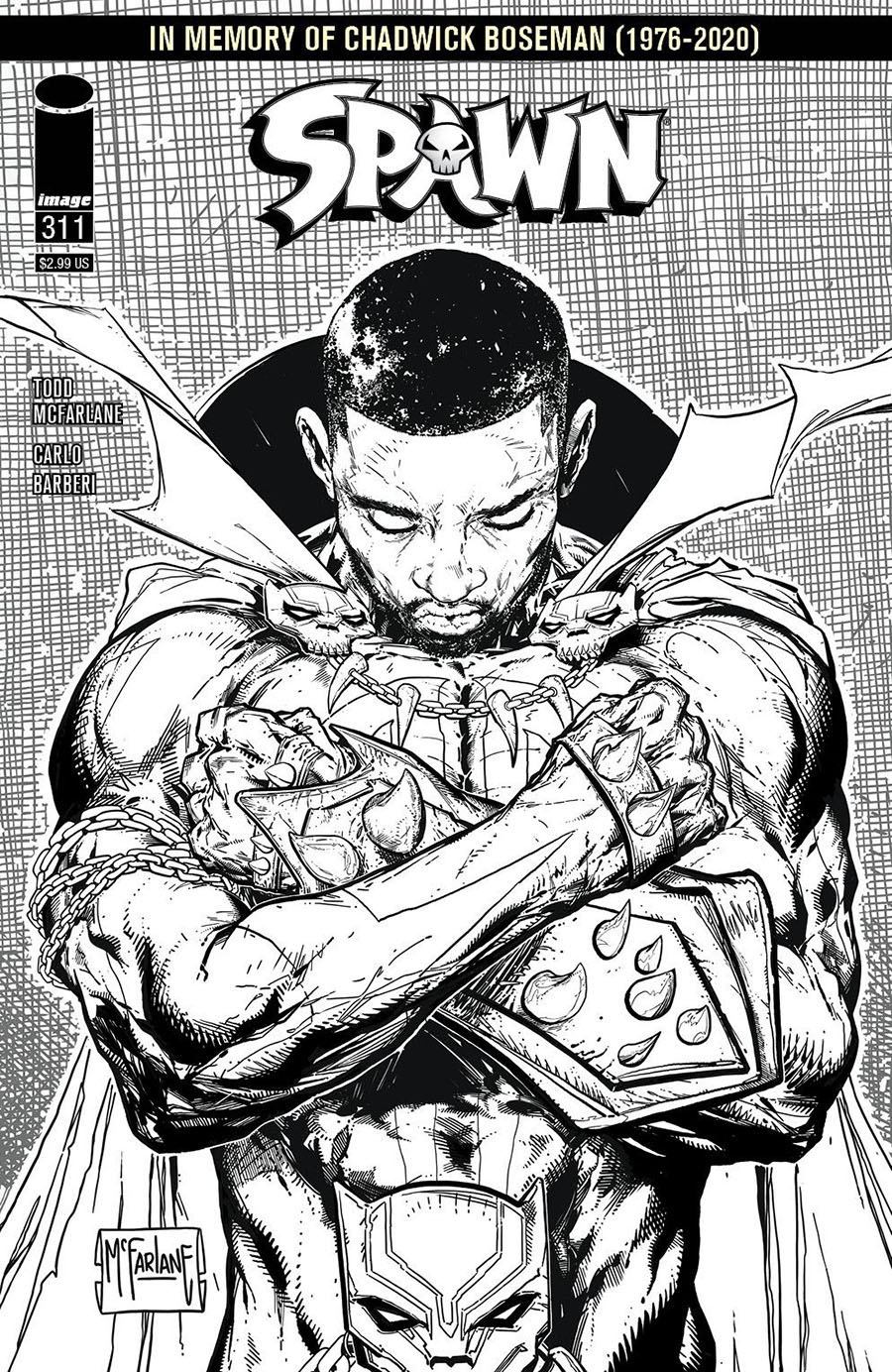 Spawn #311 Cover D Incentive Todd McFarlane Black & White Cover