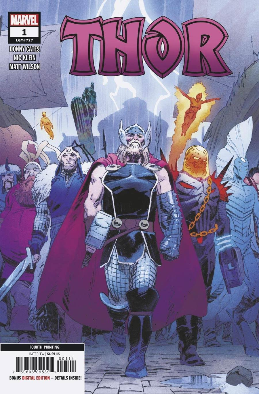 Thor Vol 6 #1 Cover Y 4th Ptg Variant Cover