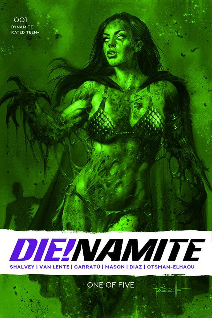 DieNamite #1 Cover H Incentive Lucio Parrillo Dressed Gangrene Green Tint Cover