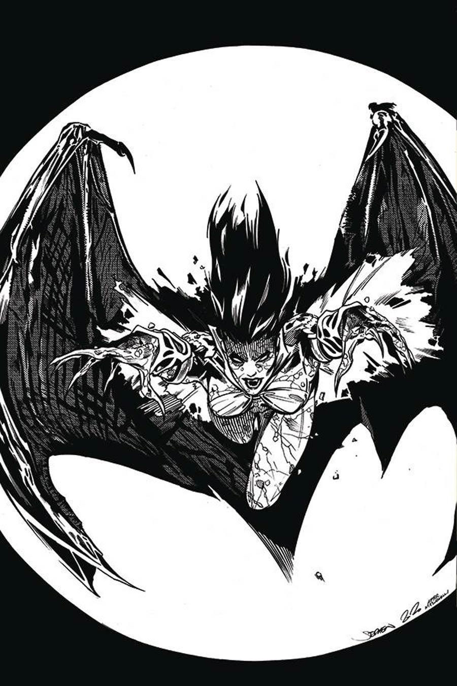 DieNamite #1 Cover I Incentive Stephen Mooney Classic Batman Homage Virgin Black & White Cover