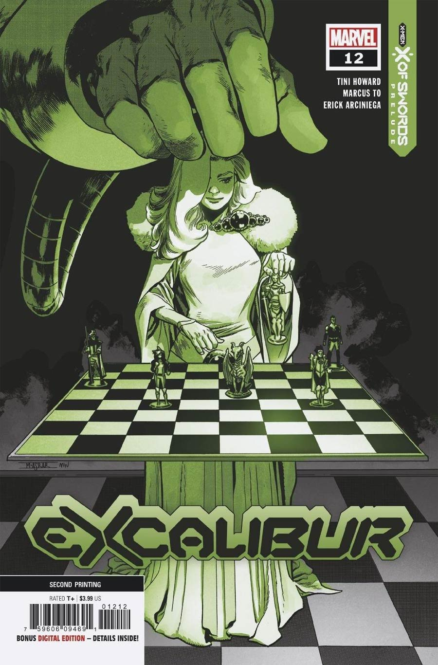 Excalibur Vol 4 #12 Cover B 2nd Ptg Mahmud Asrar Variant Cover (X Of Swords Prelude)