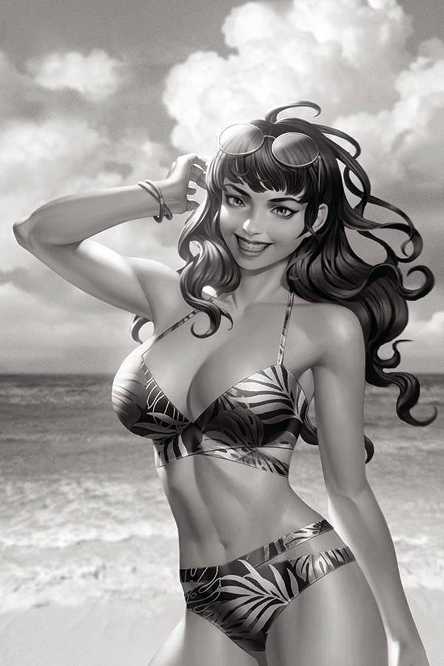 Bettie Page Vol 3 #3 Cover J Incentive Junggeun Yoon Black & White Virgin Cover