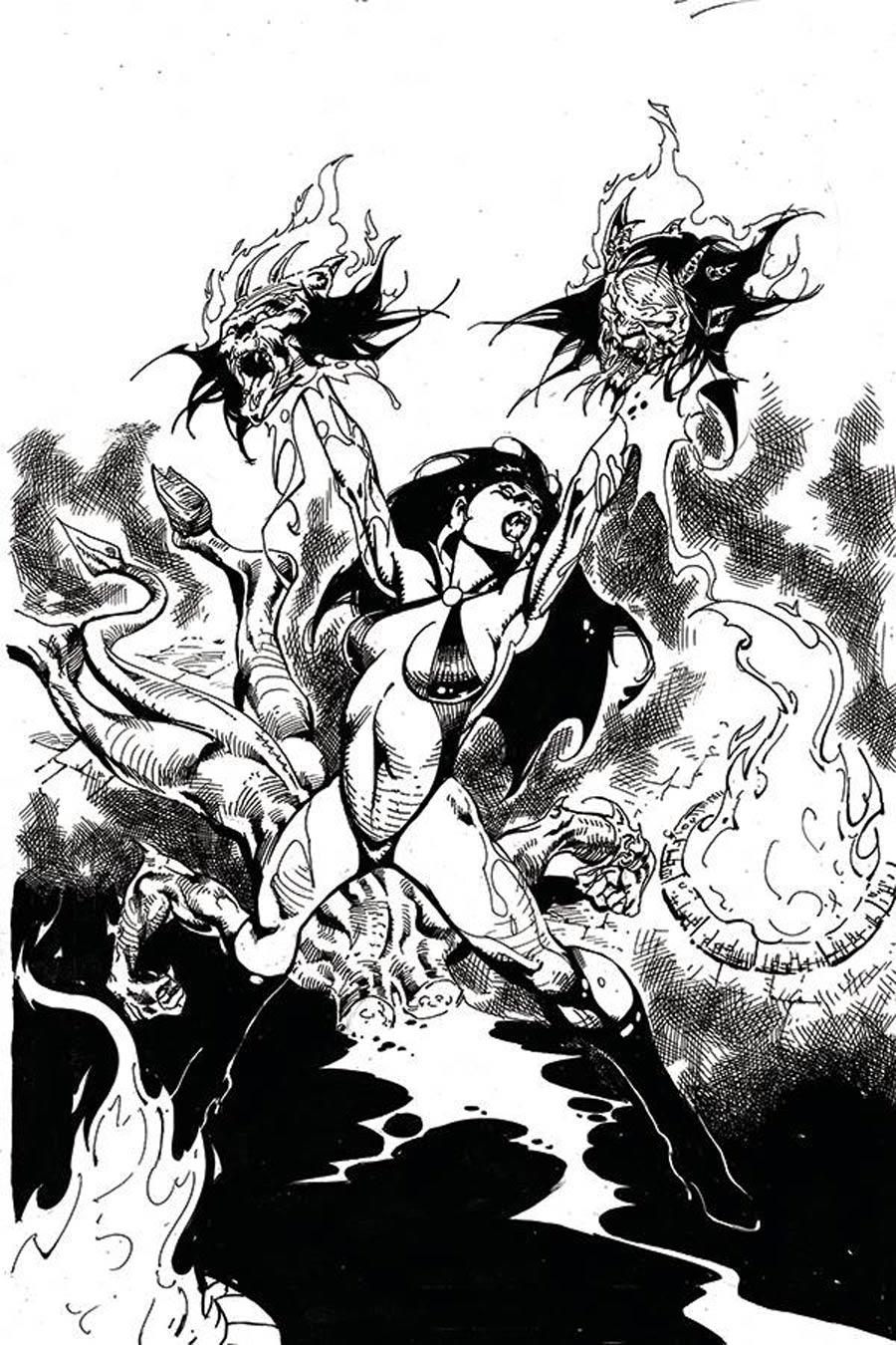 Vengeance Of Vampirella Vol 2 #11 Cover J Incentive Roberto Castro Black & White Virgin Cover
