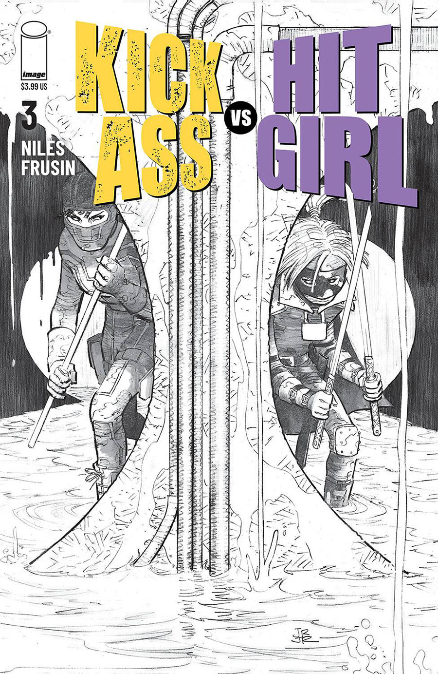 Kick-Ass vs Hit-Girl #3 Cover B Variant John Romita Jr Sketch Cover