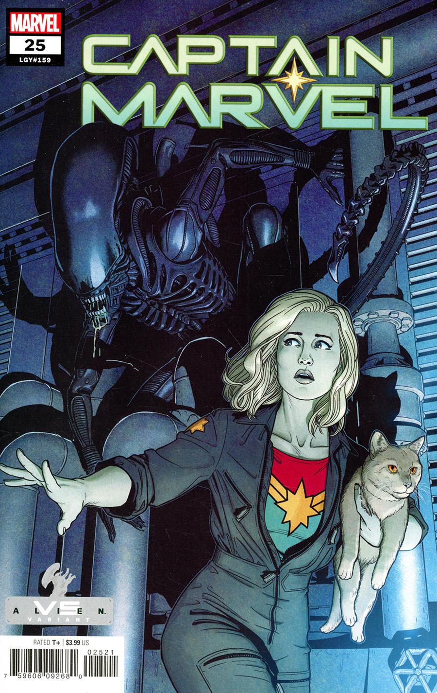 Captain Marvel Vol 9 #25 Cover B Variant Jamie McKelvie Marvel vs Alien Cover