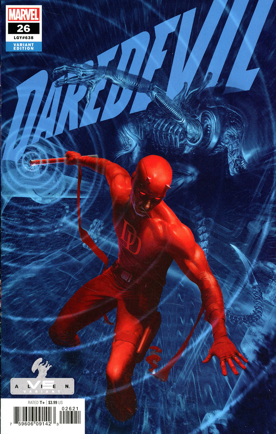 Daredevil Vol 6 #26 Cover B Variant Rahzzah Marvel vs Alien Cover (King In Black Tie-In)(Limit 1 Per Customer)