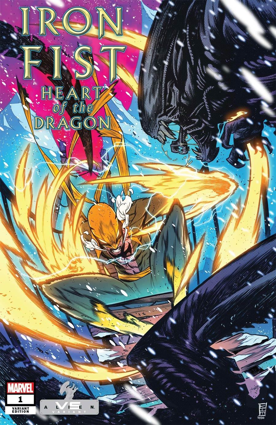Iron Fist Heart Of The Dragon #1 Cover B Variant Kim Jacinto Marvel vs Alien Cover