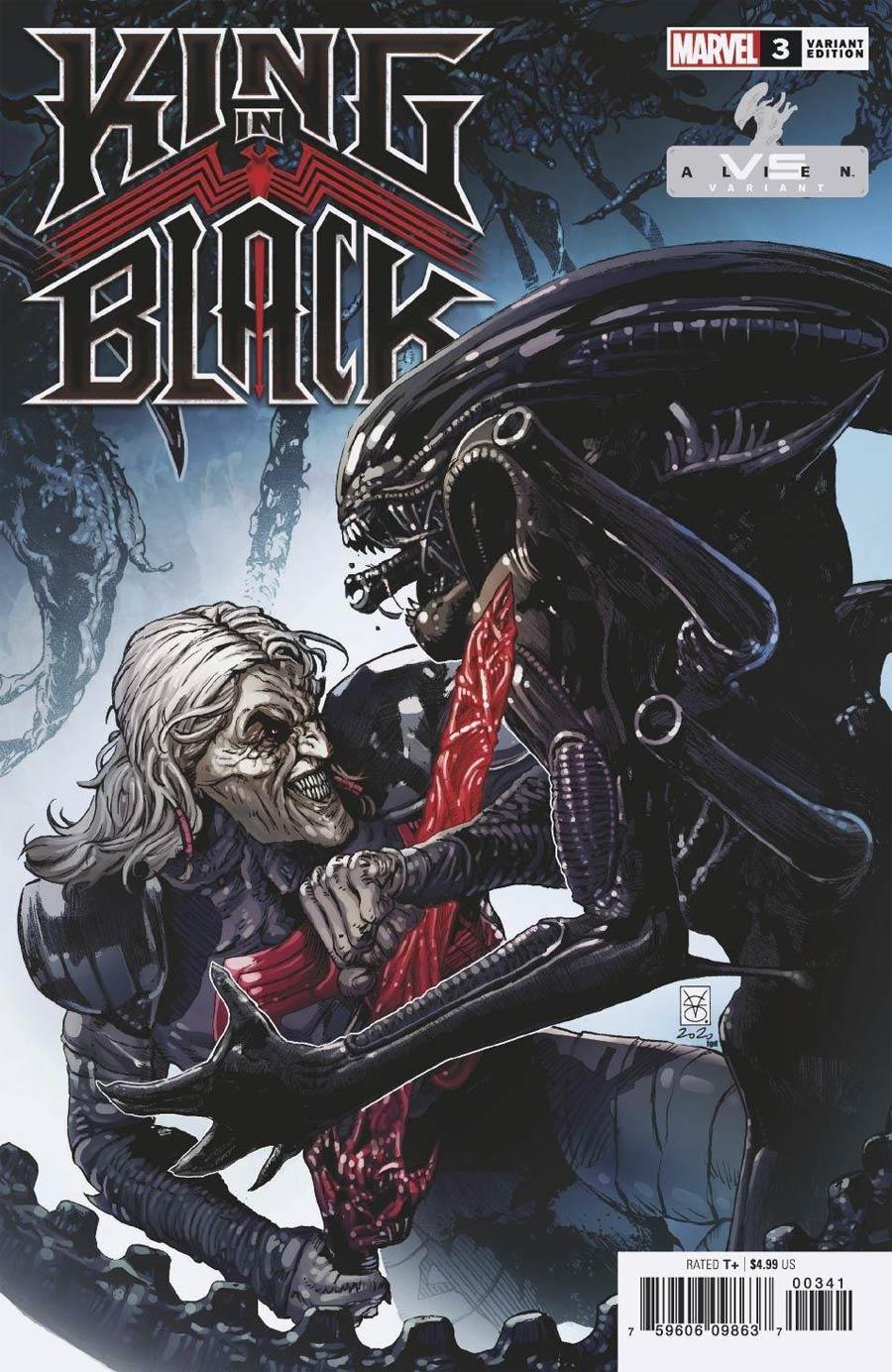 King In Black #3 Cover C Variant Valerio Giangiordano Marvel vs Alien Cover