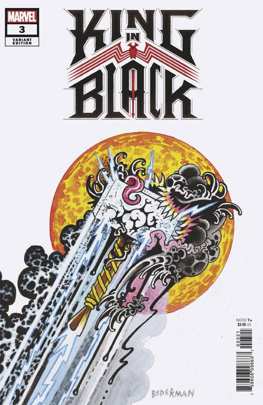 King In Black #3 Cover D Variant Ian Bederman Tattoo Cover