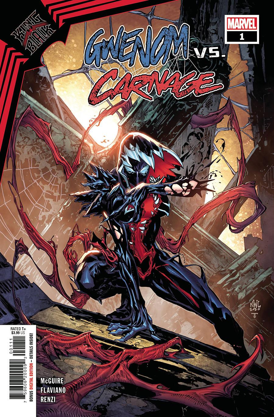 King In Black Gwenom vs Carnage #1 Cover A Regular Ken Lashley Cover