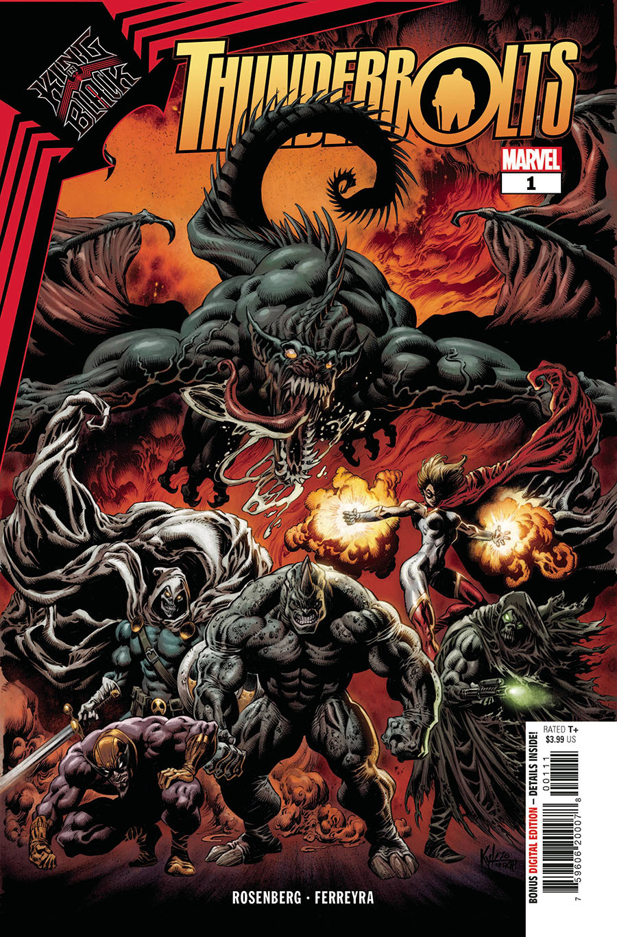 King In Black Thunderbolts #1 Cover A Regular Kyle Hotz Cover