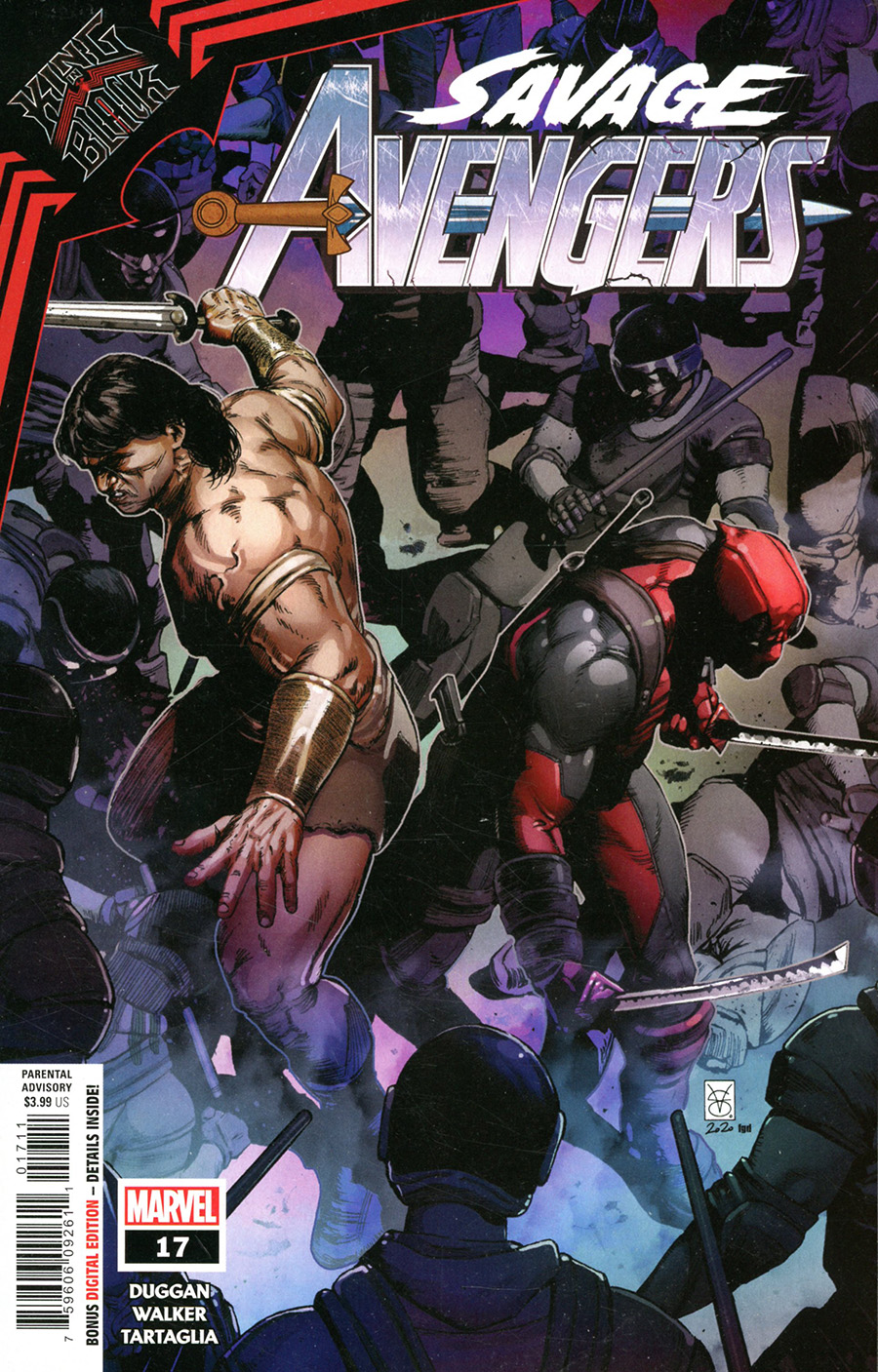 Savage Avengers #17 Cover A Regular Valerio Giangiordano Cover (King In Black Tie-In)