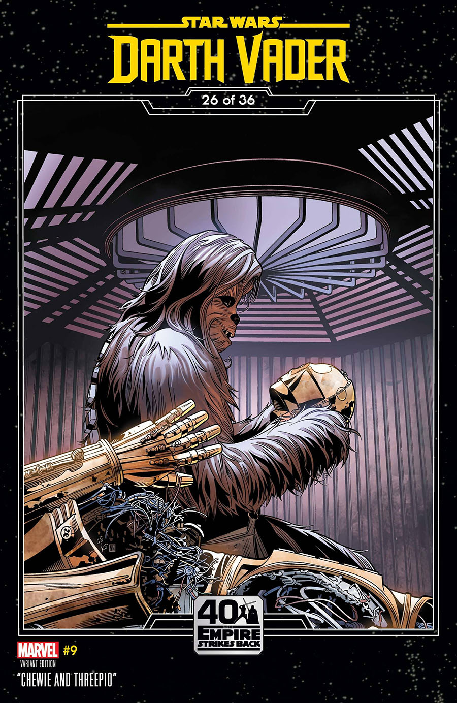 Star Wars Darth Vader #9 Cover B Variant Chris Sprouse Empire Strikes Back Cover