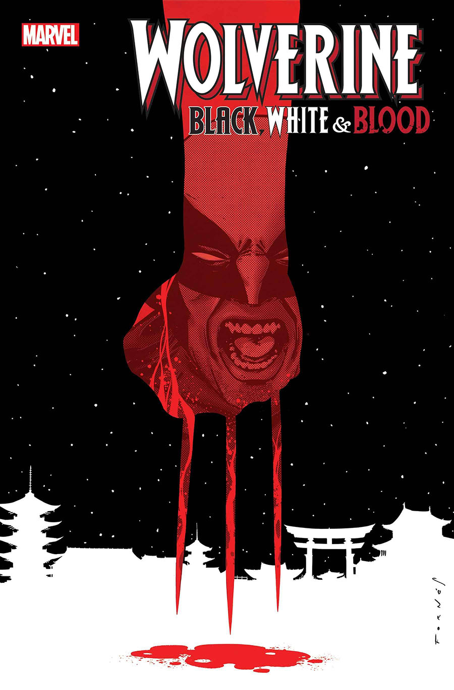 Wolverine Black White & Blood #3 Cover A Regular Jorge Fornes Cover