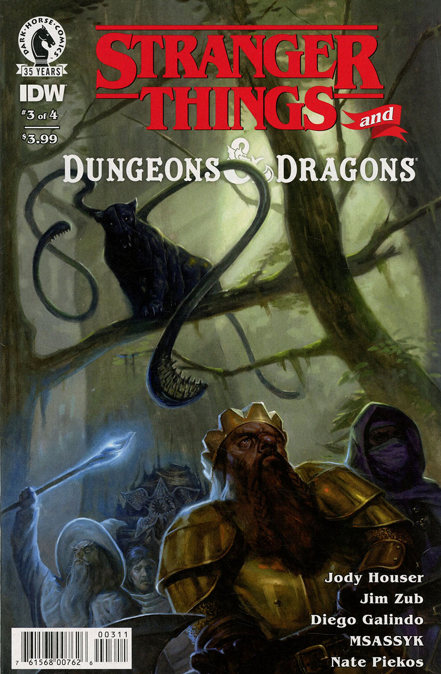 Stranger Things And Dungeons & Dragons #3 Cover A Regular EM Gist Cover