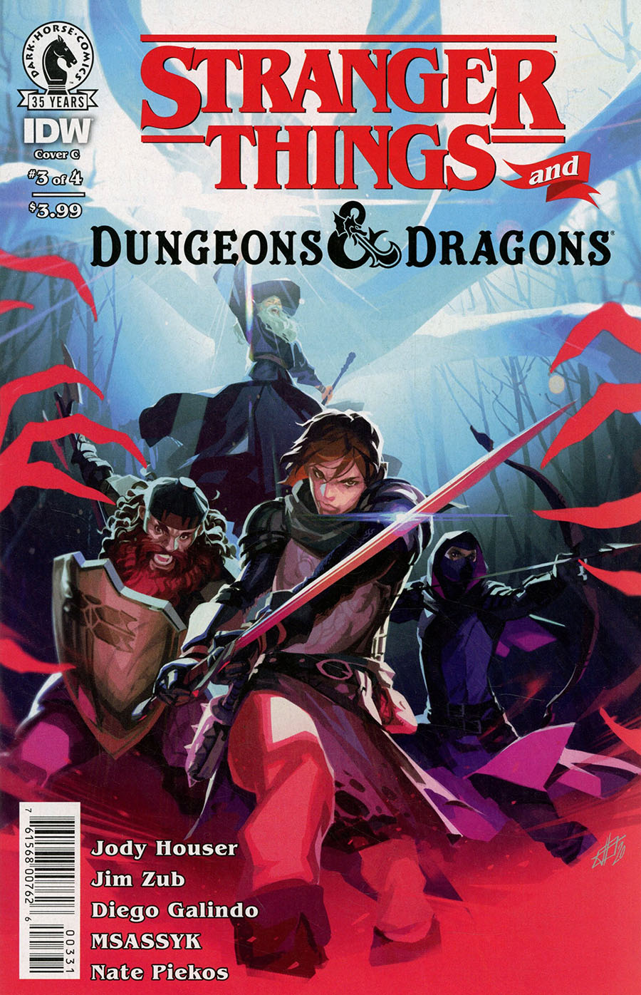 Stranger Things And Dungeons & Dragons #3 Cover C Variant Toni Infante Cover