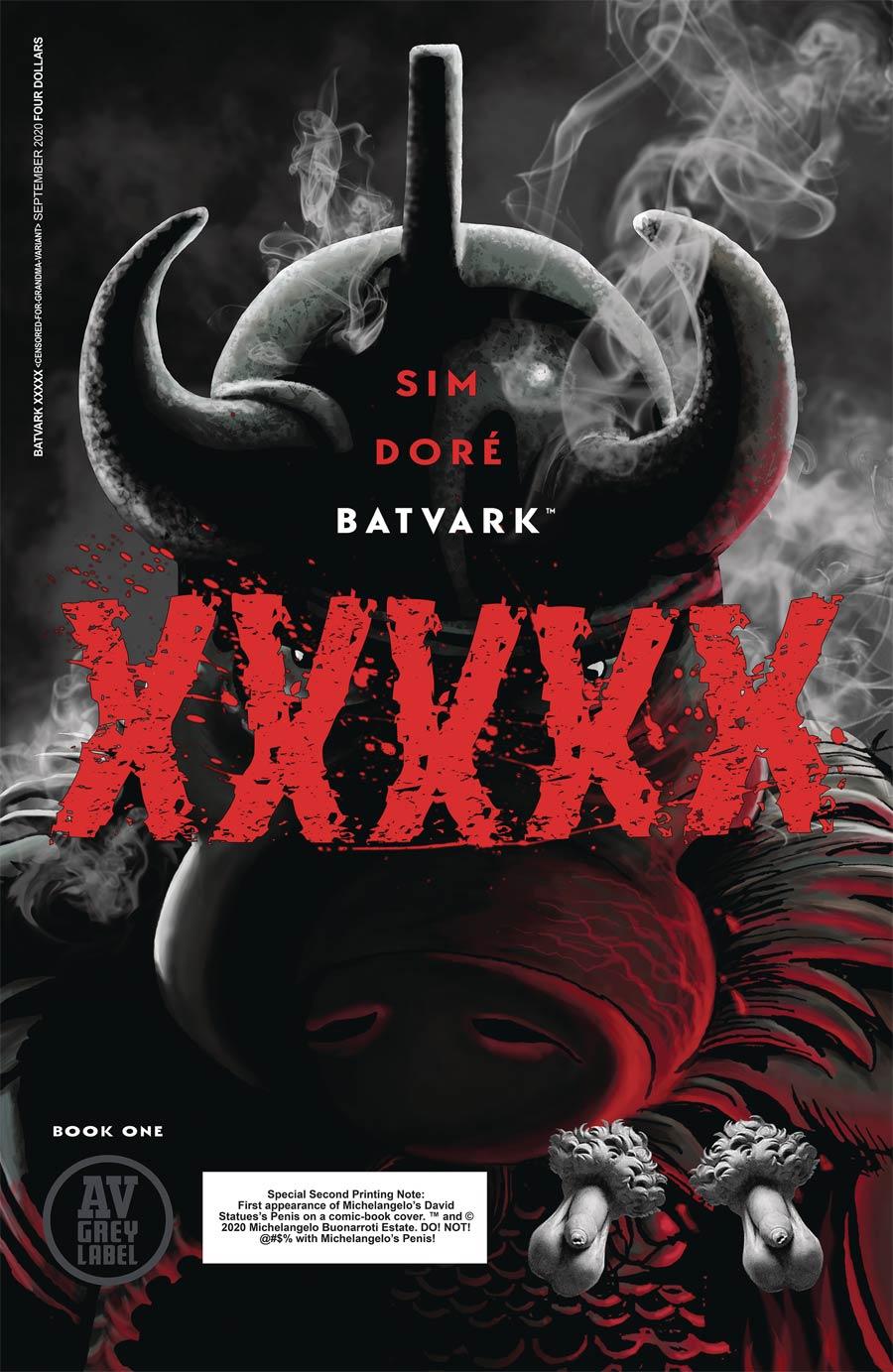 Batvark XXXXX One Shot Cover B 2nd Ptg