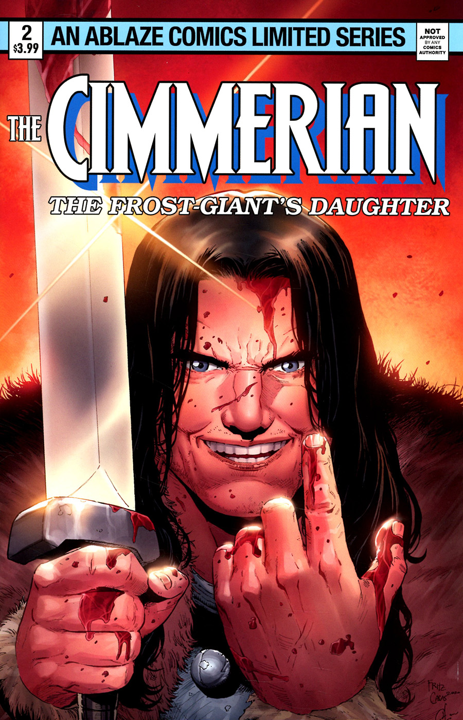 Cimmerian Frost-Giants Daughter #2 Cover D Variant Fritz Casas Wolverine Limited Series Parody Cover