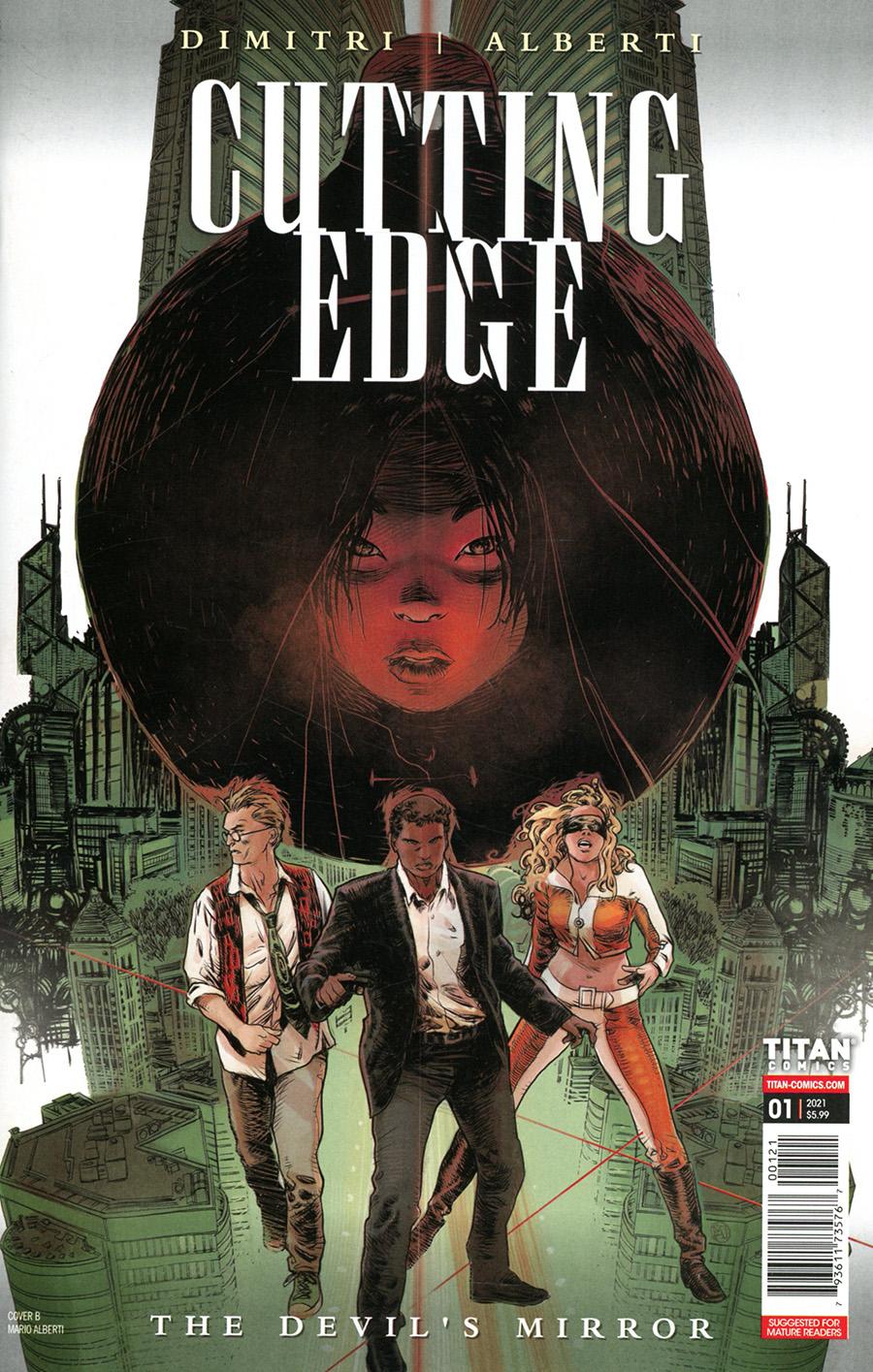Cutting Edge Devils Mirror #1 Cover B Variant Mario Alberti Cover