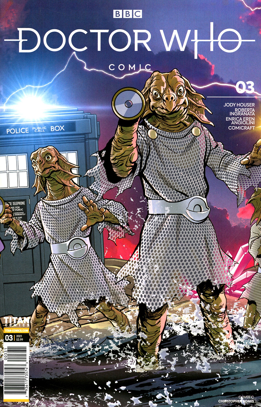 Doctor Who Comic #3 Cover C Variant Christopher Jones Cover