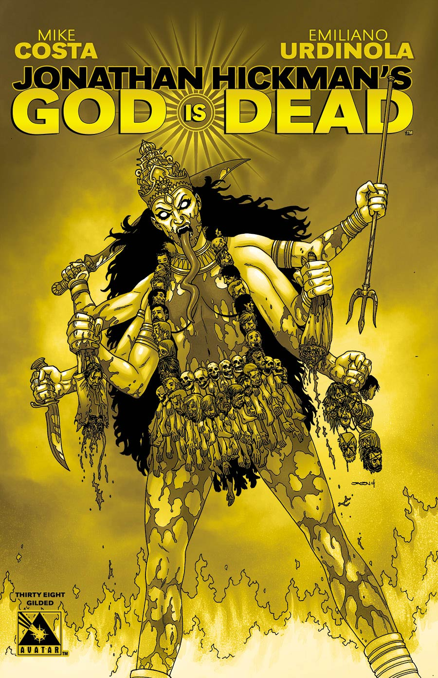 God Is Dead #38 Gilded Cover Sale Edition