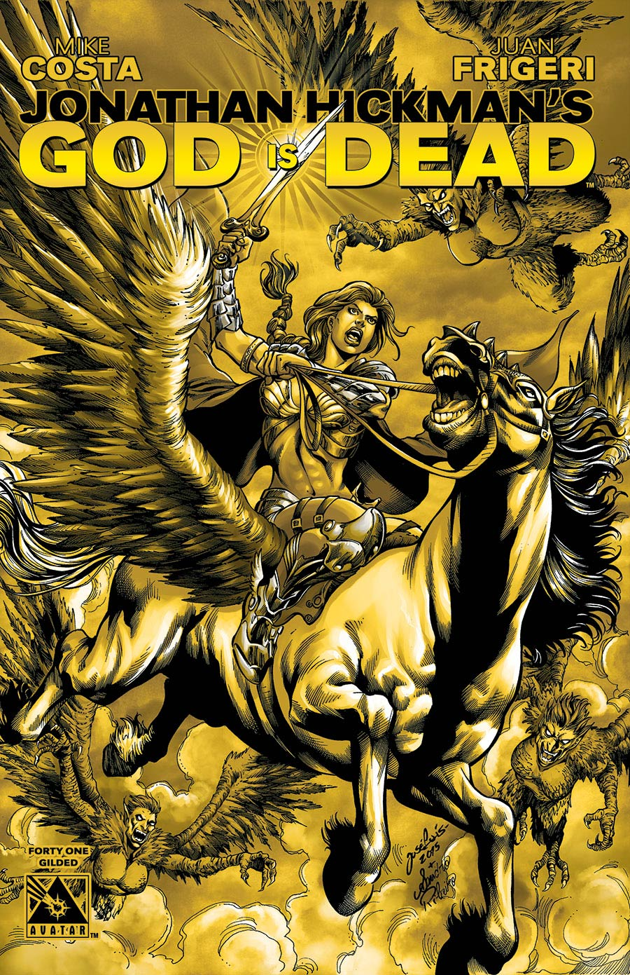 God Is Dead #41 Gilded Cover Sale Edition