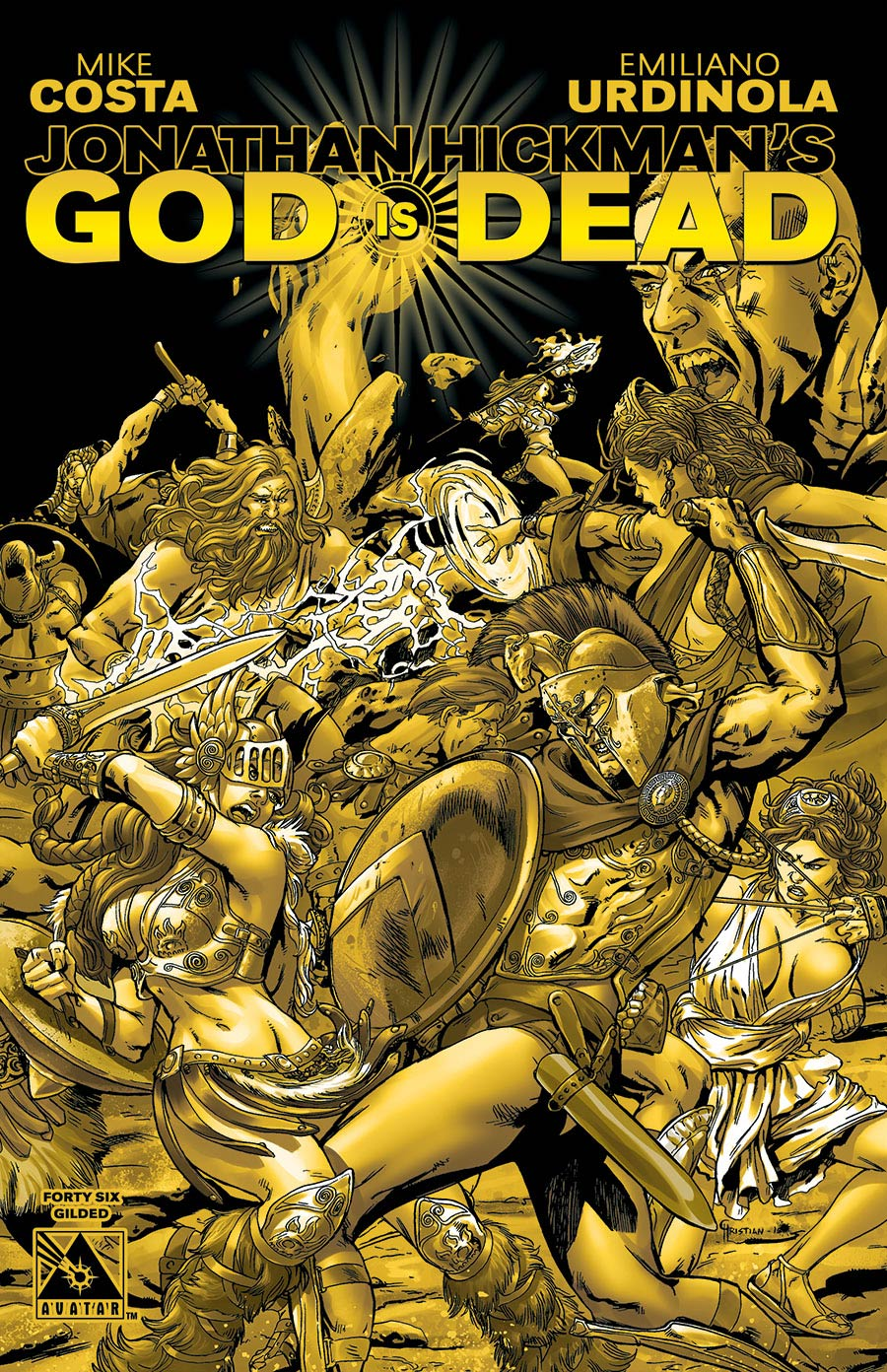 God Is Dead #46 Gilded Cover Sale Edition