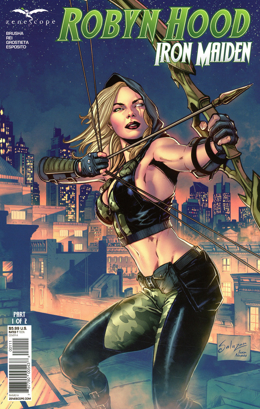 Grimm Fairy Tales Presents Robyn Hood Iron Maiden #1 Cover A Edgar Salazar