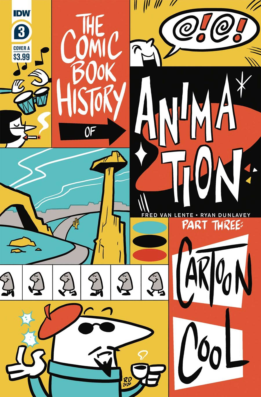 Comic Book History Of Animation #3 Cover A Regular Ryan Dunlavey Cover