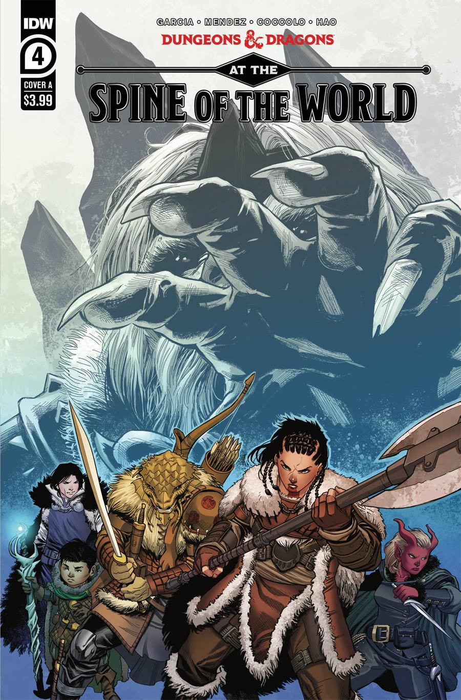 Dungeons & Dragons At The Spine Of The World #4 Cover A Regular Martin Coccolo Cover