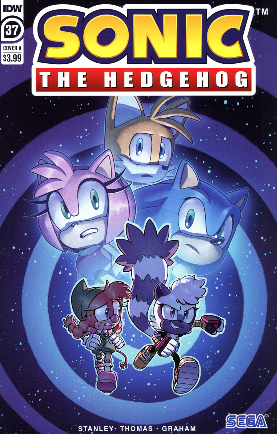 Sonic The Hedgehog Vol 3 #37 Cover A Regular Evan Stanley Cover