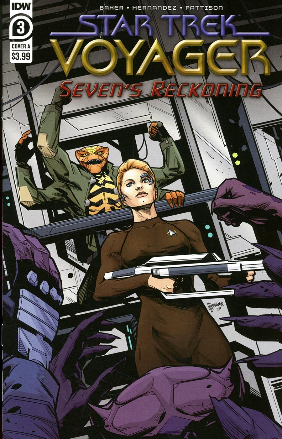 Star Trek Voyager Sevens Reckoning #3 Cover A Regular Angel Hernandez Cover