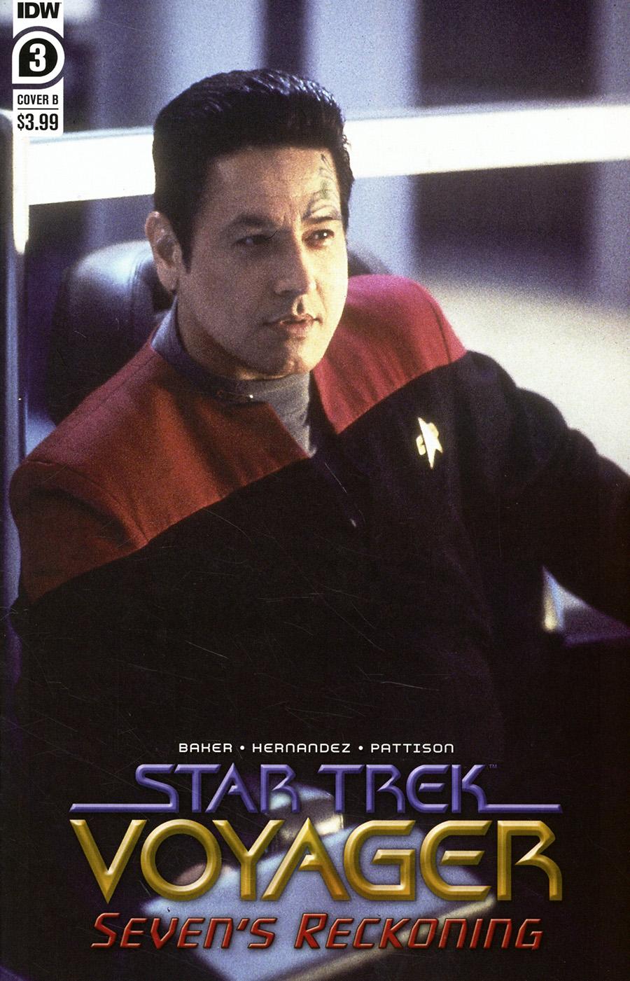 Star Trek Voyager Sevens Reckoning #3 Cover B Variant Photo Cover