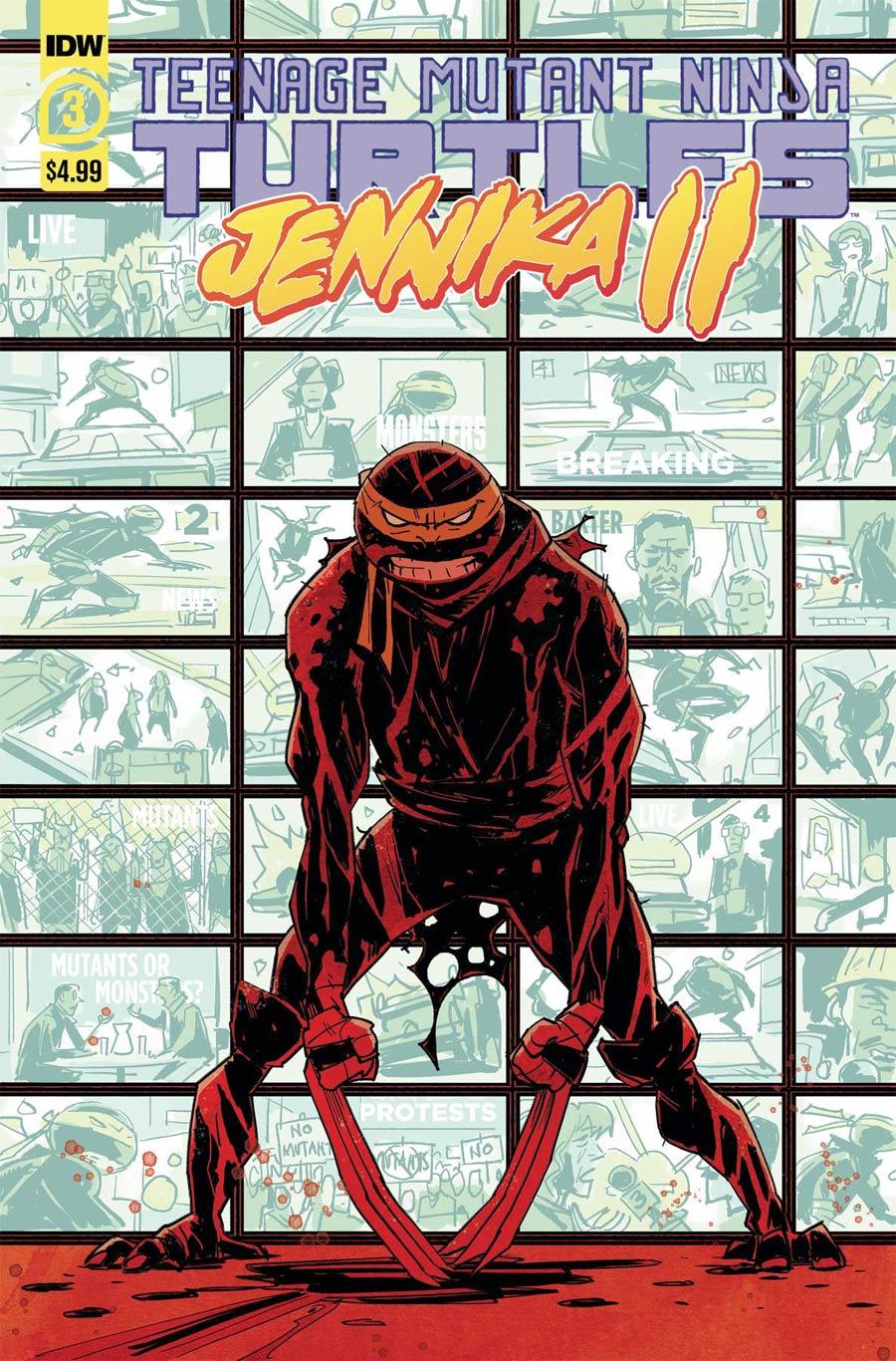 Teenage Mutant Ninja Turtles Jennika II #3 Cover A Regular Brahm Revel Cover