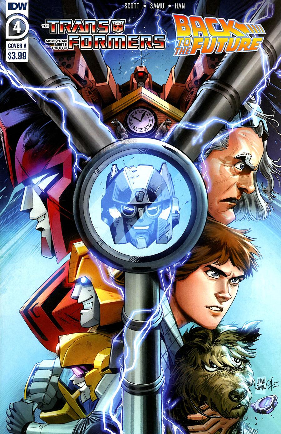 Transformers Back To The Future #4 Cover A Regular Juan Samu Cover